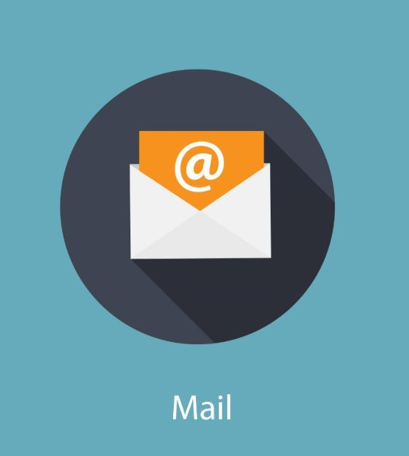 Inbox Mail Flat Concept Vector Illustration